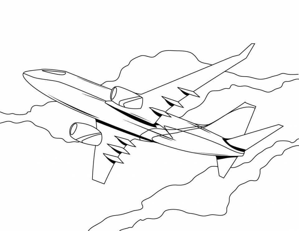 Get This Airplane Coloring Pages Free Printable 94512 !