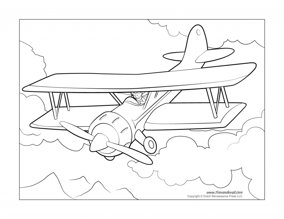 airplane coloring pages free printable 9881 - Airplane Coloring Pages Printable