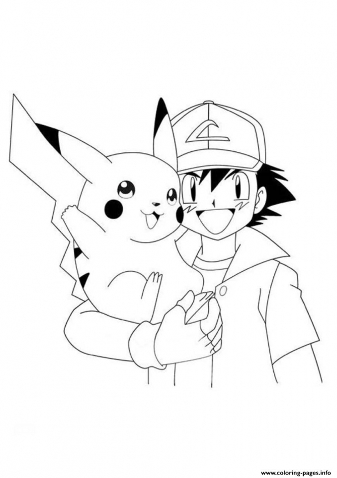 ash and pikachu coloring pages   a6sfe1