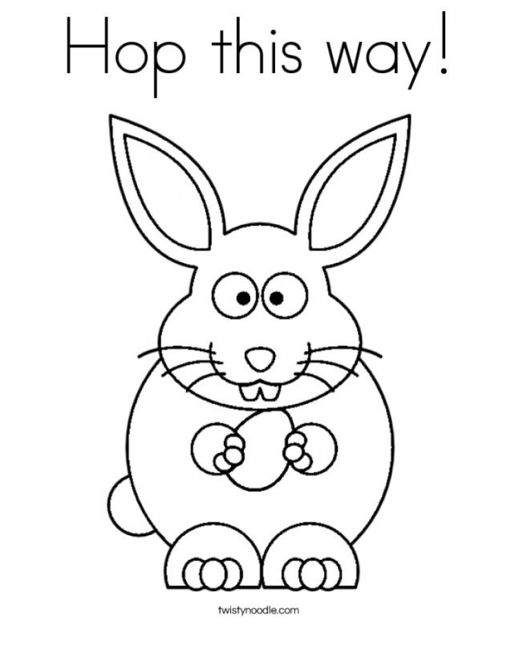 Get This Baby Bunny Coloring Pages for Toddlers 98602