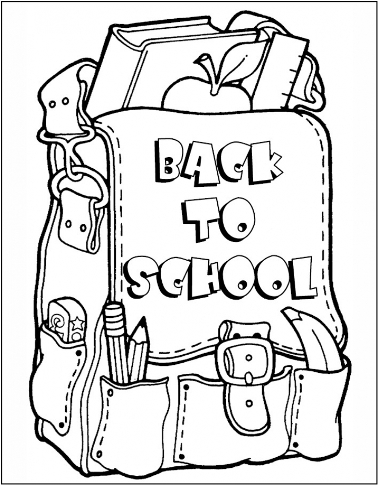 Get This Back to School Coloring Pages for Kindergarten 7at2b