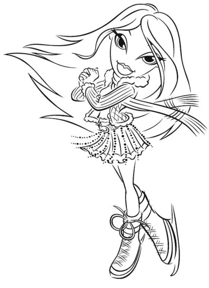 bratz coloring pages girls printable uplg6 - Coloring Pages Girls Printable