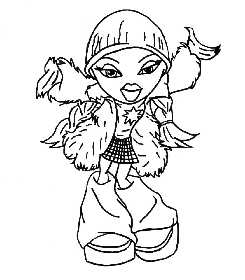 Bratz Coloring Pages Pdf : Bratz colouring pages cloe coloring jasmine
