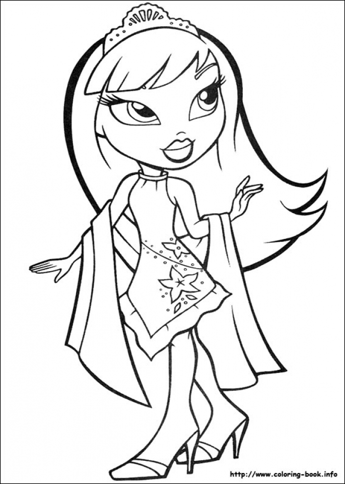 Get This Bratz Coloring Pages Printable art41 !