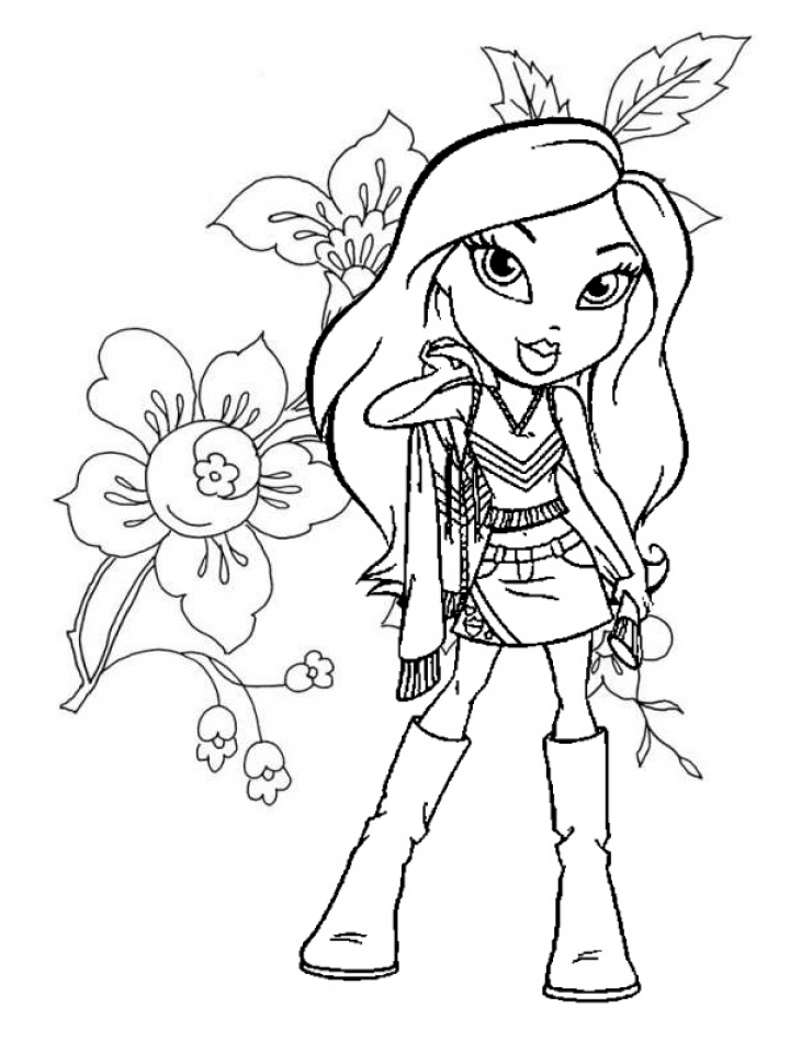 free bratz dolls coloring pages | Get This Bratz Dolls Coloring Pages at492