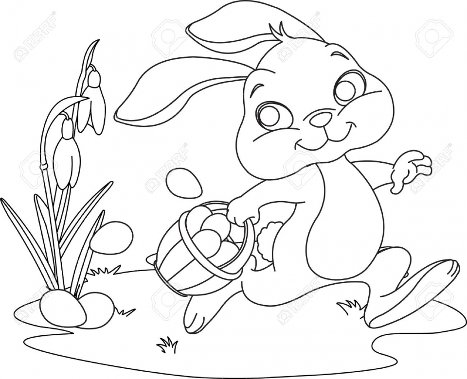 Get This Cartoon Easter Bunny Coloring Pages for Kids 74912