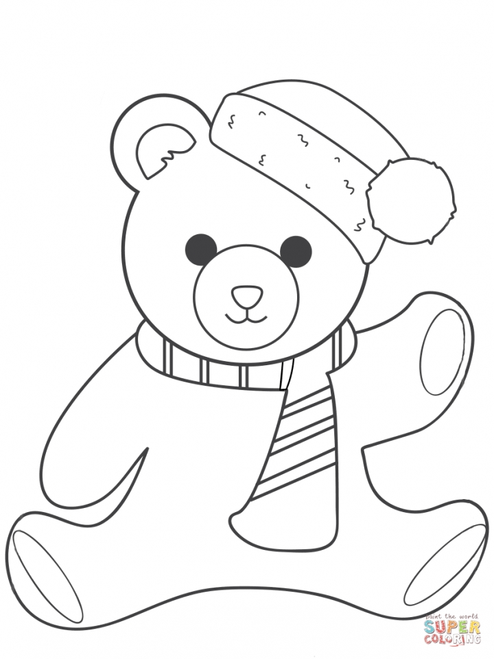 Get This christmas teddy bear coloring pages yagr7 !