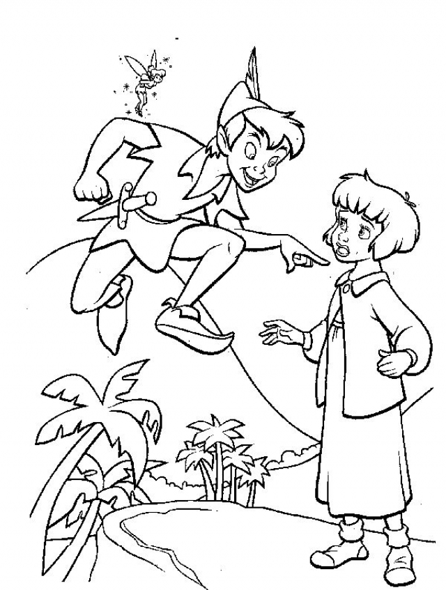 Get This Coloring Pages of Peter Pan to Print 1gtrn