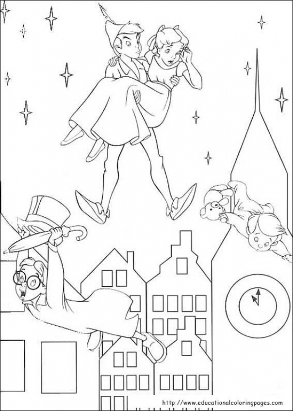 Get This Coloring Pages of Peter Pan to Print 6xvsq