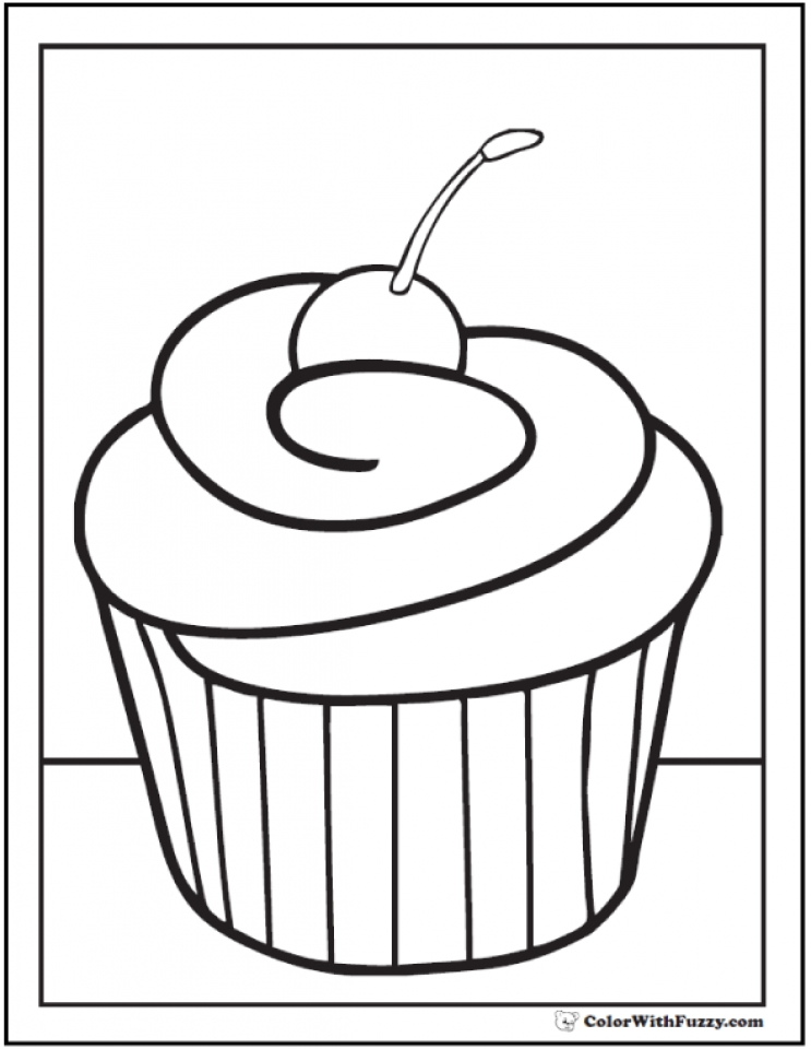 cupcake coloring pages free 11673 - Cupcake Coloring Pages