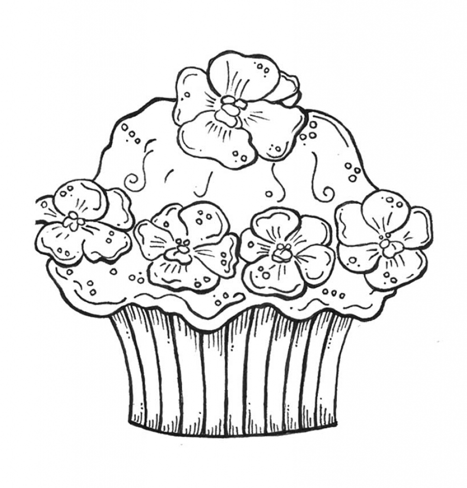 Get This Cupcake Coloring Pages Free 21869 !
