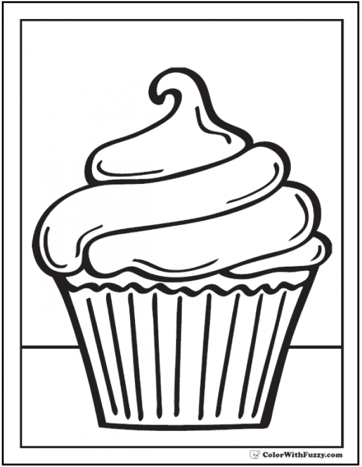 Get This Cupcake Coloring Pages
