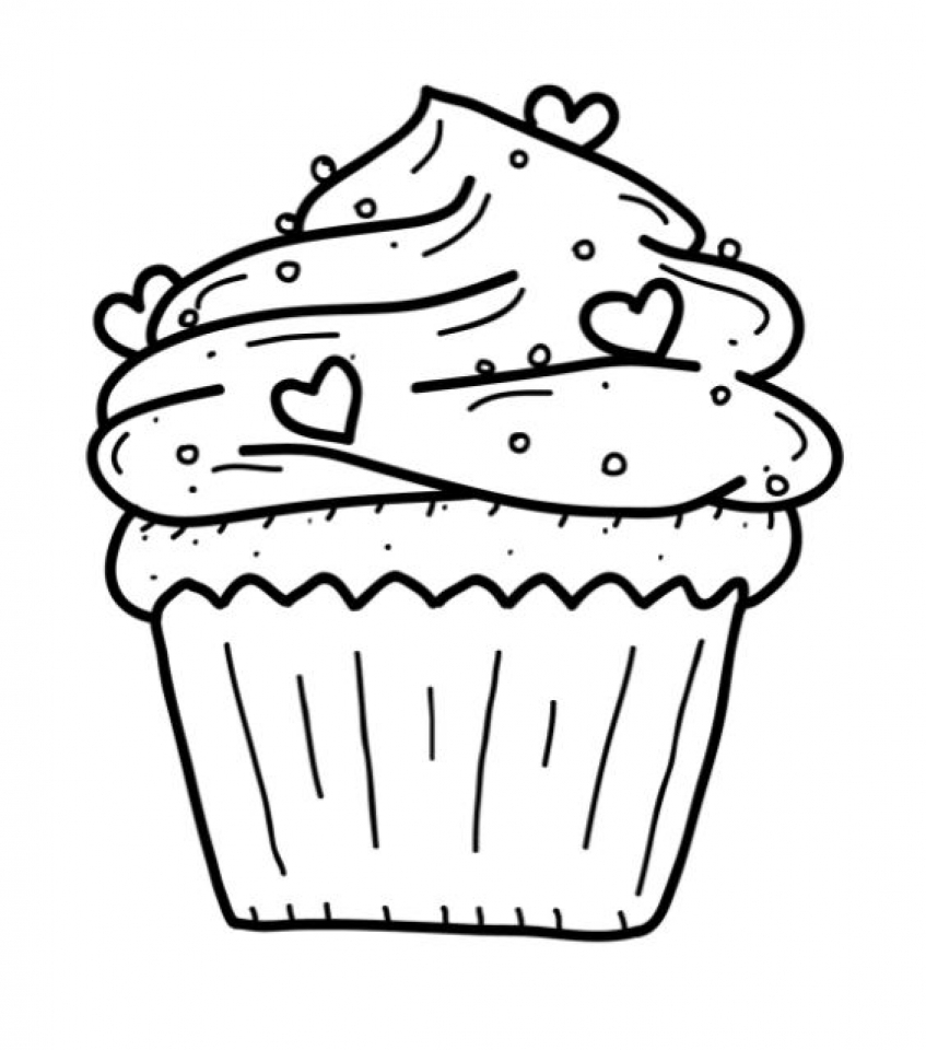 Get This Cute Cupcake Coloring Pages 20671