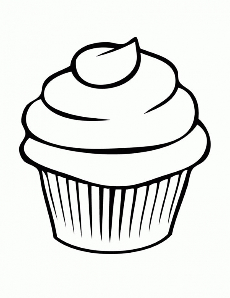Get this cute cupcake coloring pages 38611 for Cupcake color pages