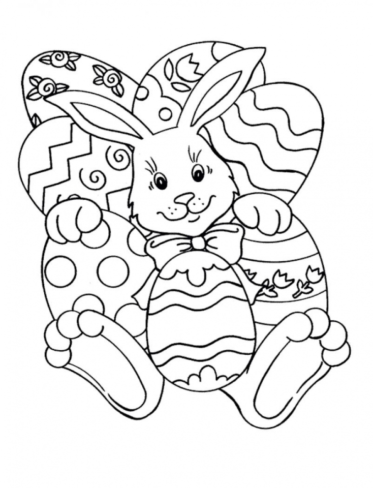 Cute Easter Bunny Coloring Pages 11784