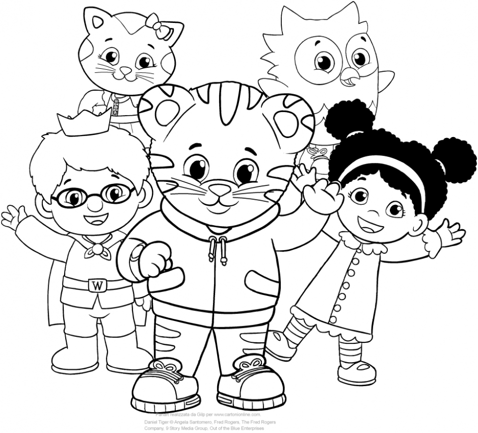 daniel tiger coloring pages for kids 3a6yt - Daniel Tiger Coloring Pages