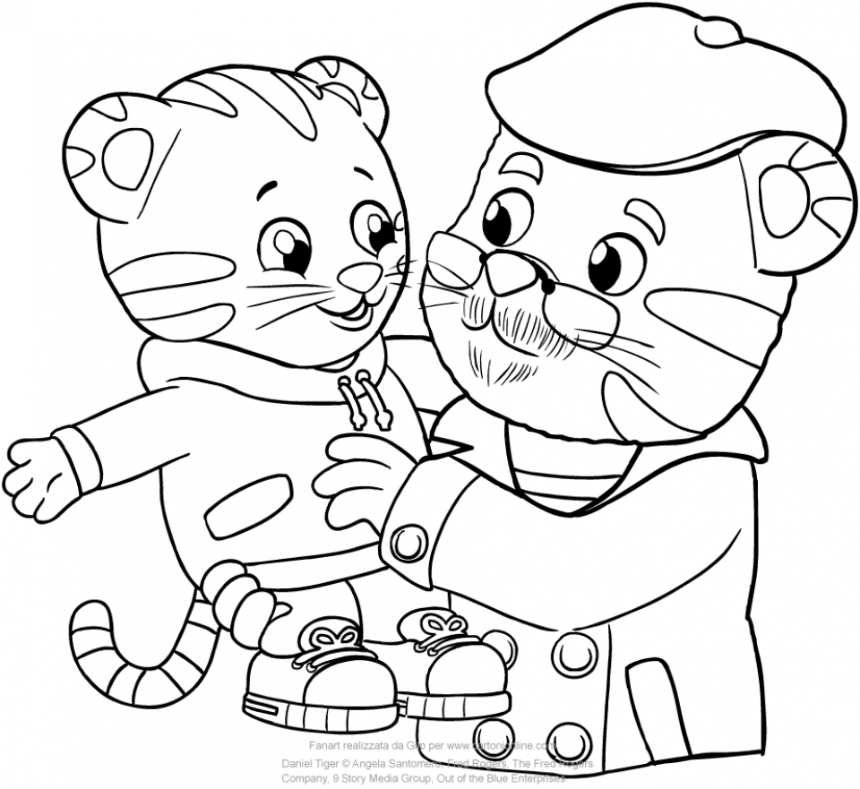 daniel coloring page - get this daniel tiger coloring pages for kids 4bvo5