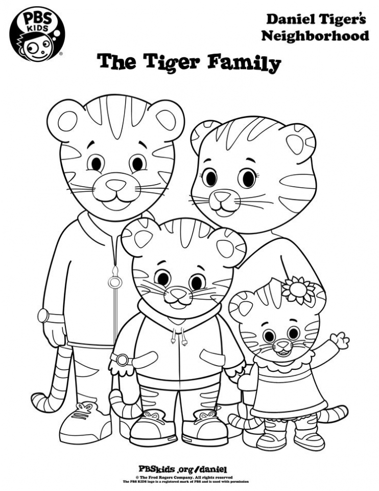 Daniel Tiger Coloring Pages Printable 65g3m