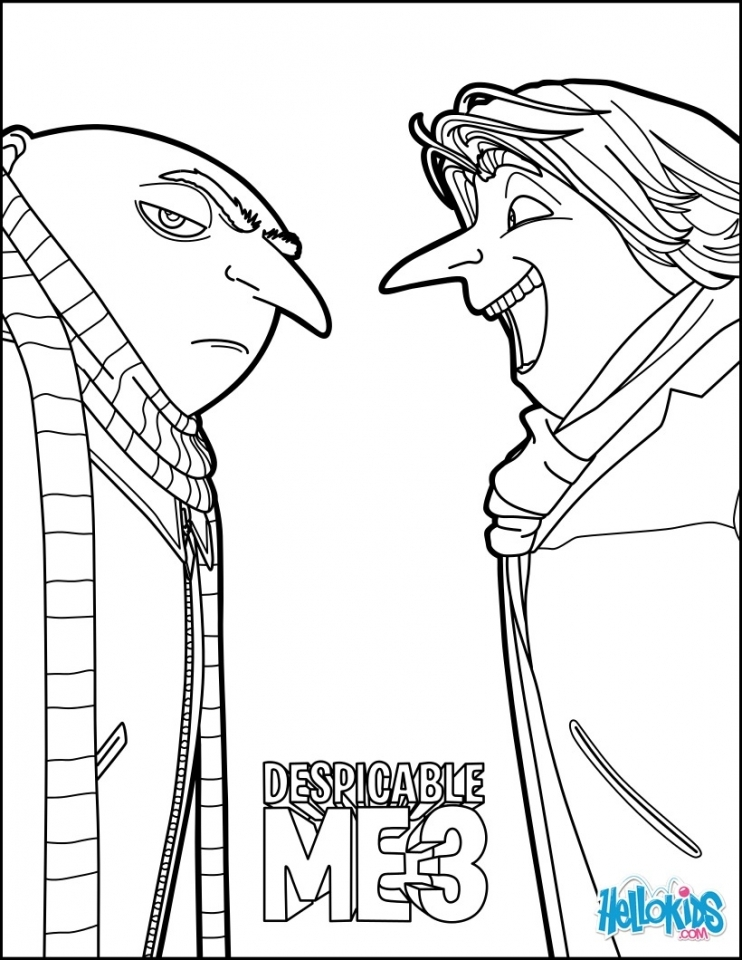 Get This Despicable Me Coloring Pages Online Uxb21
