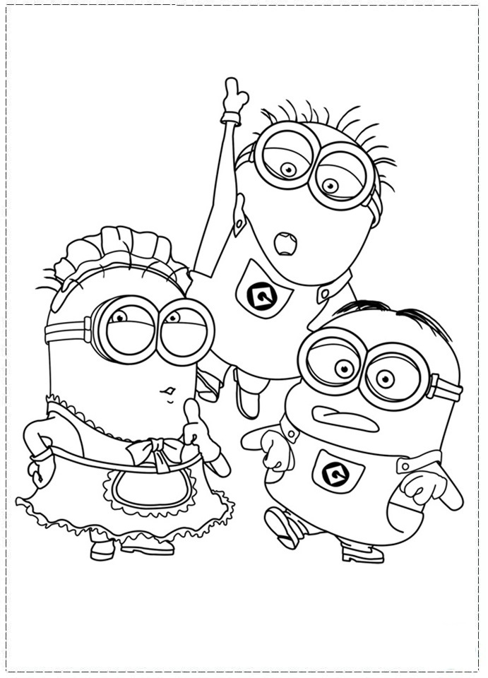 Despicable Me Coloring Pages Printable 83491