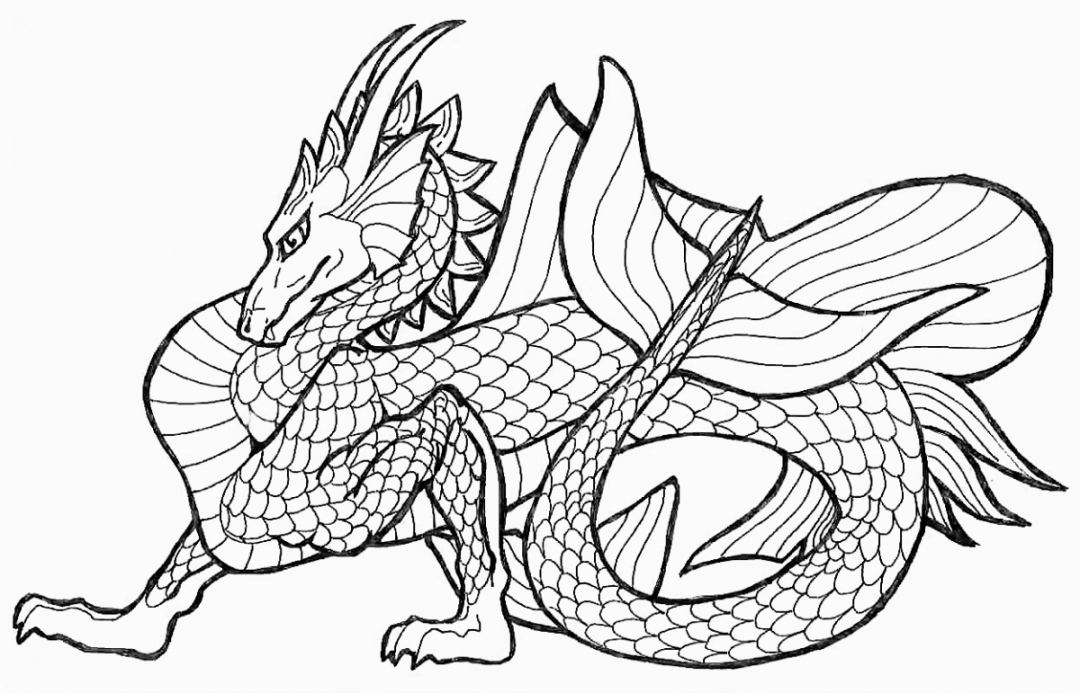 Get This Dragon Coloring Pages For Adults Free Lec67 !