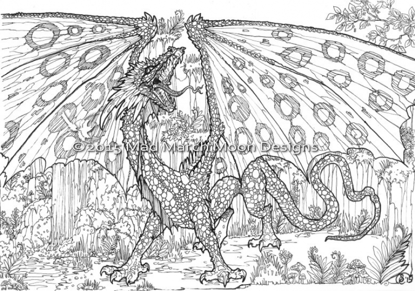 Get This Dragon Coloring Pages For Adults Free Printable Lp5c7