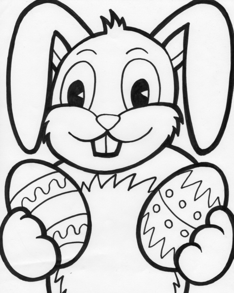 Easter Bunny Color Pages Get This Easter Bunny Coloring Pages For Kids 07739