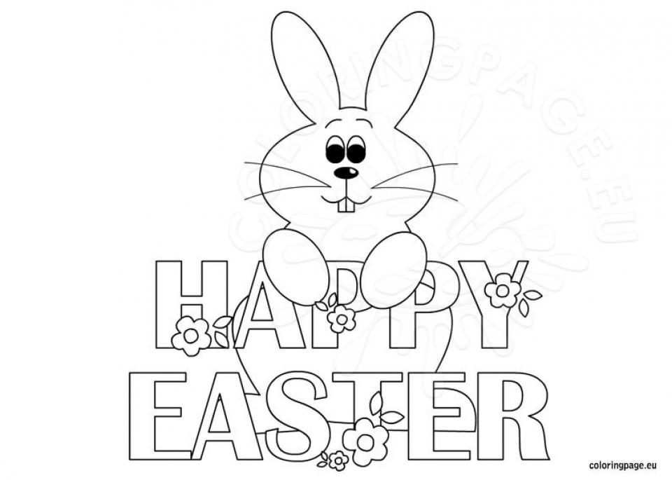 happy easter coloring page - get this easter bunny coloring pages for toddlers 74513