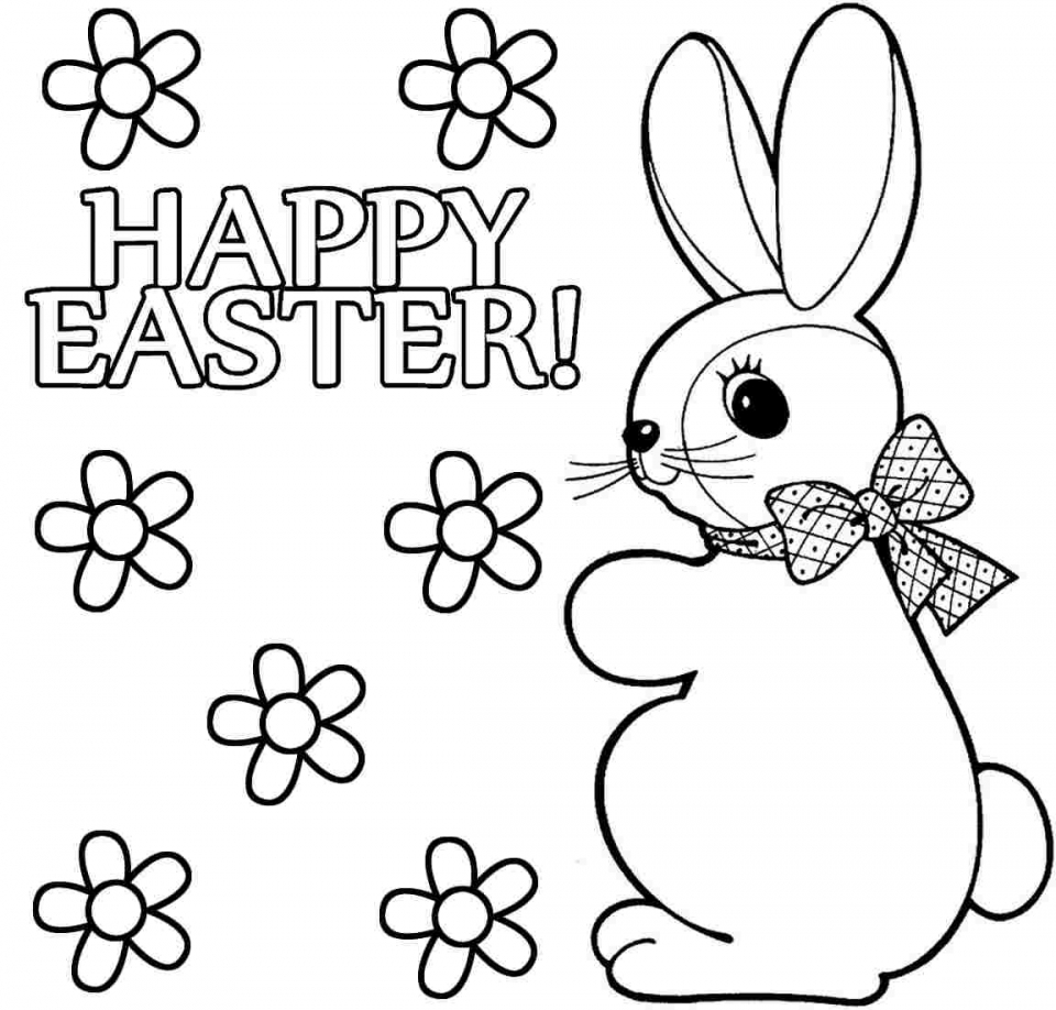 Disney princess easter coloring pages - Easter Bunny Coloring Pages Free 65401