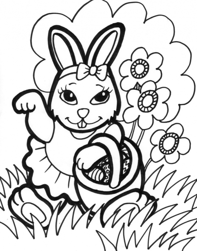 Get This Easter Bunny Coloring Pages Free 76219 !