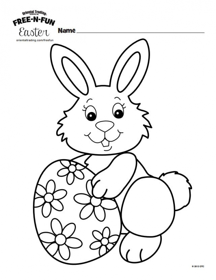 Get This Easter Bunny Coloring Pages Printable 56381