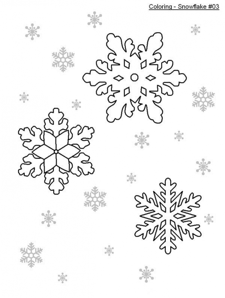 Simple Snowflake Coloring Pages Elioleracom