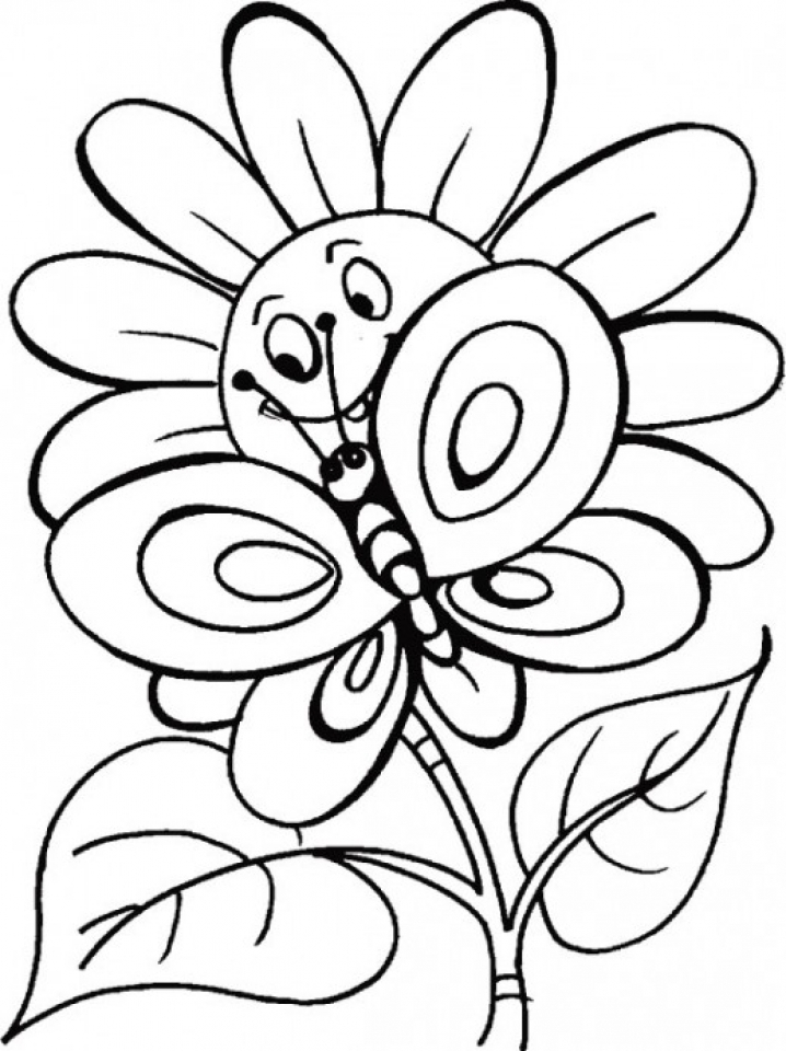Get This Flowers Coloring Pages Kids Printable 8561