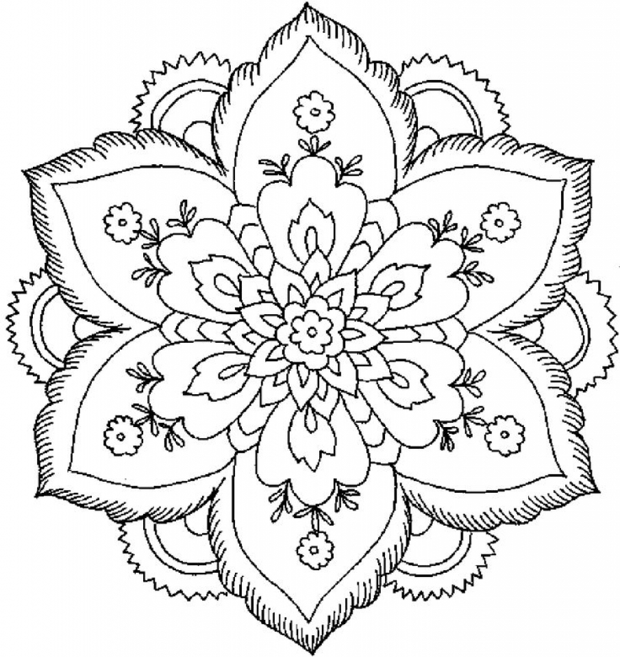 Flowers Mandala Coloring Pages For Adults 64tgx