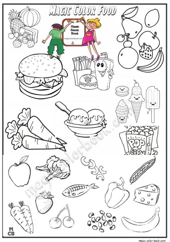 Get This Food Coloring Pages For Kids P4bc6