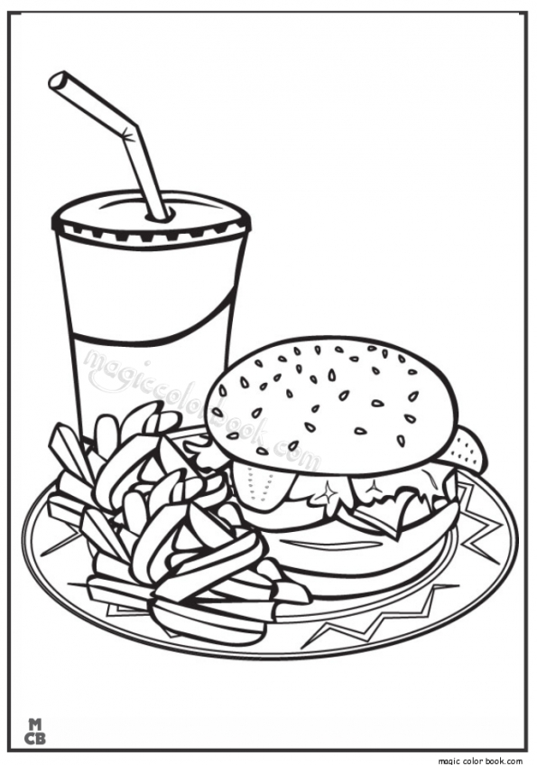 Food Coloring Pages Junk 894nc