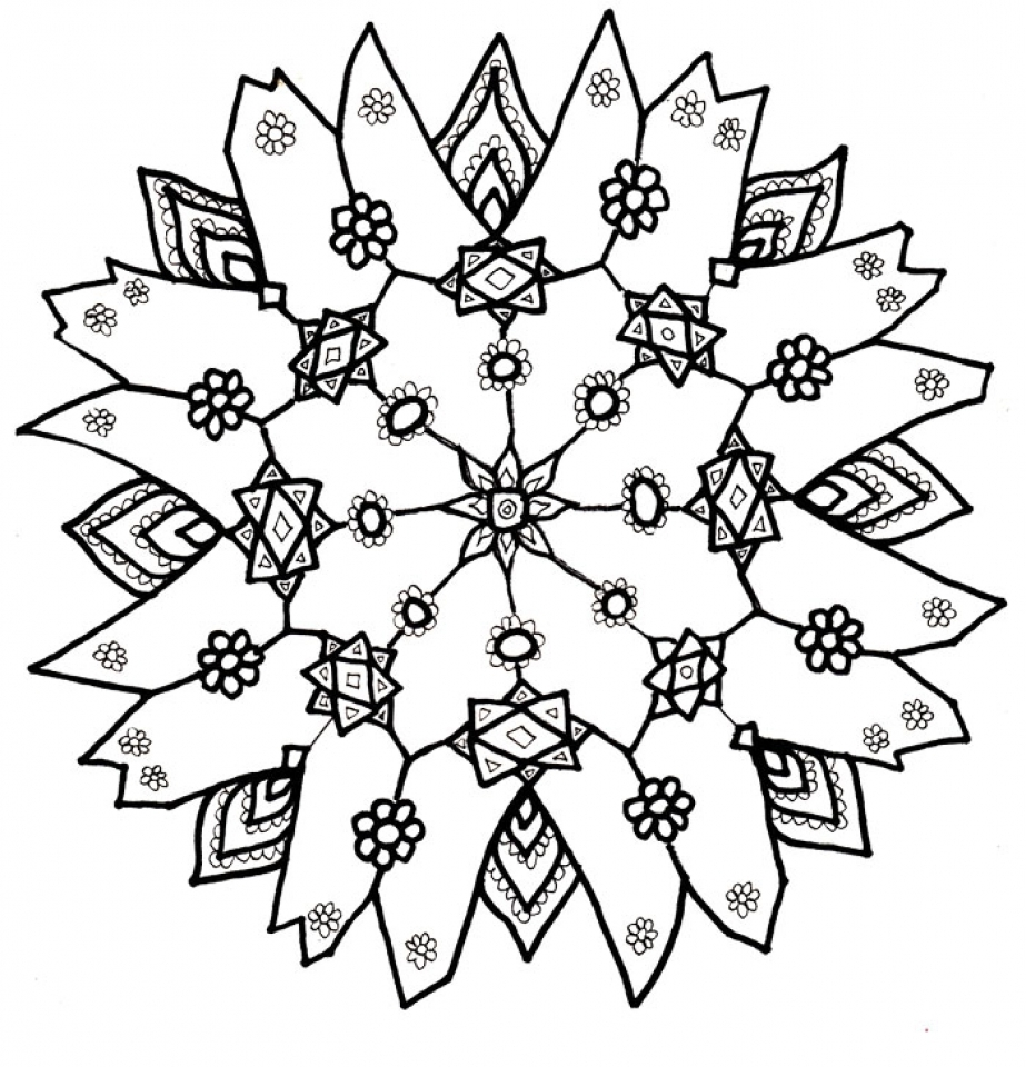 Get This Free Snowflake Coloring Pages to Print Out 31679