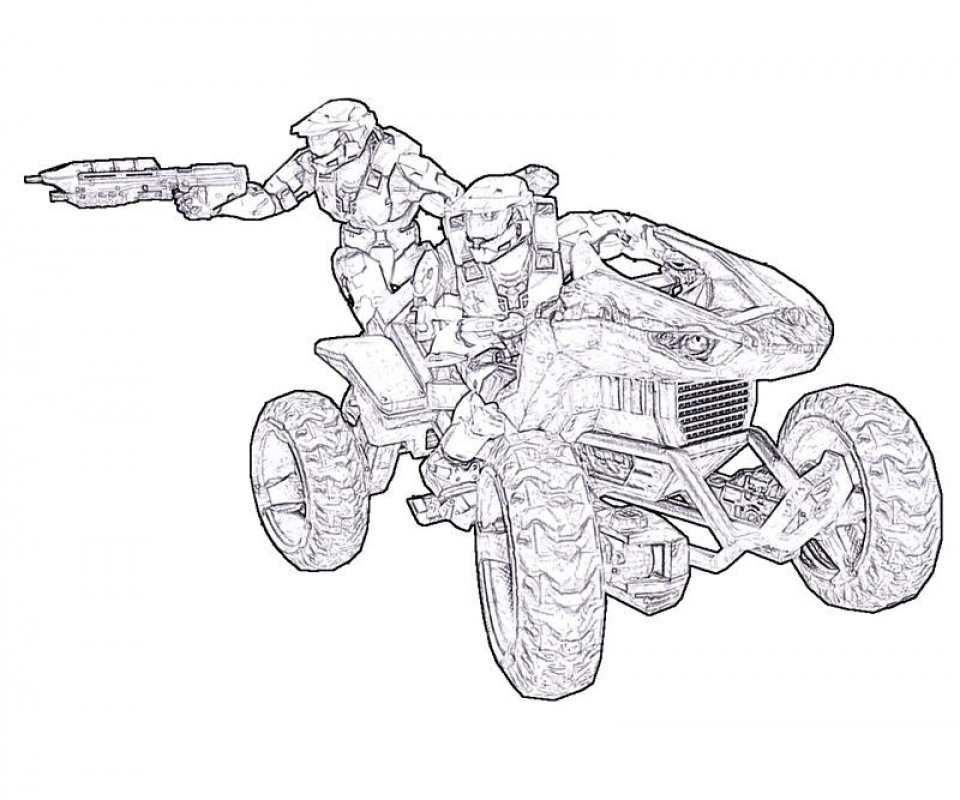 Get This Halo Coloring Pages Printable 08601