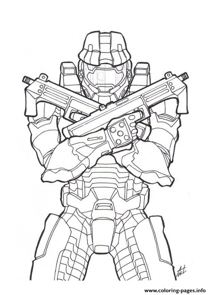 Get This Halo Coloring Pages Printable 91549