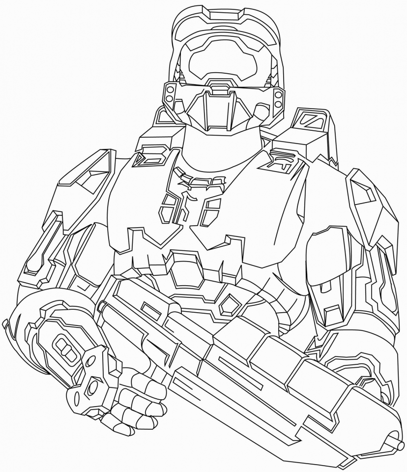 halo coloring pages printable for boys 6ahhj - Halo Coloring Pages