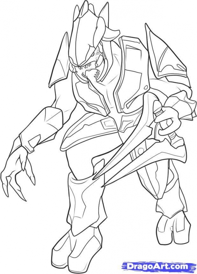 Get This Halo Coloring Pages to Print 54518
