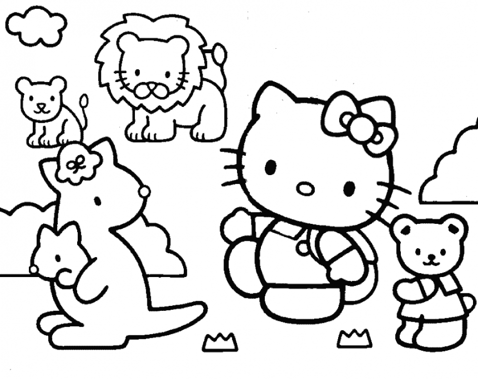 coloring pages hello kitty summer clothes | Get This Summer Coloring Pages to Print Out for Adults ...