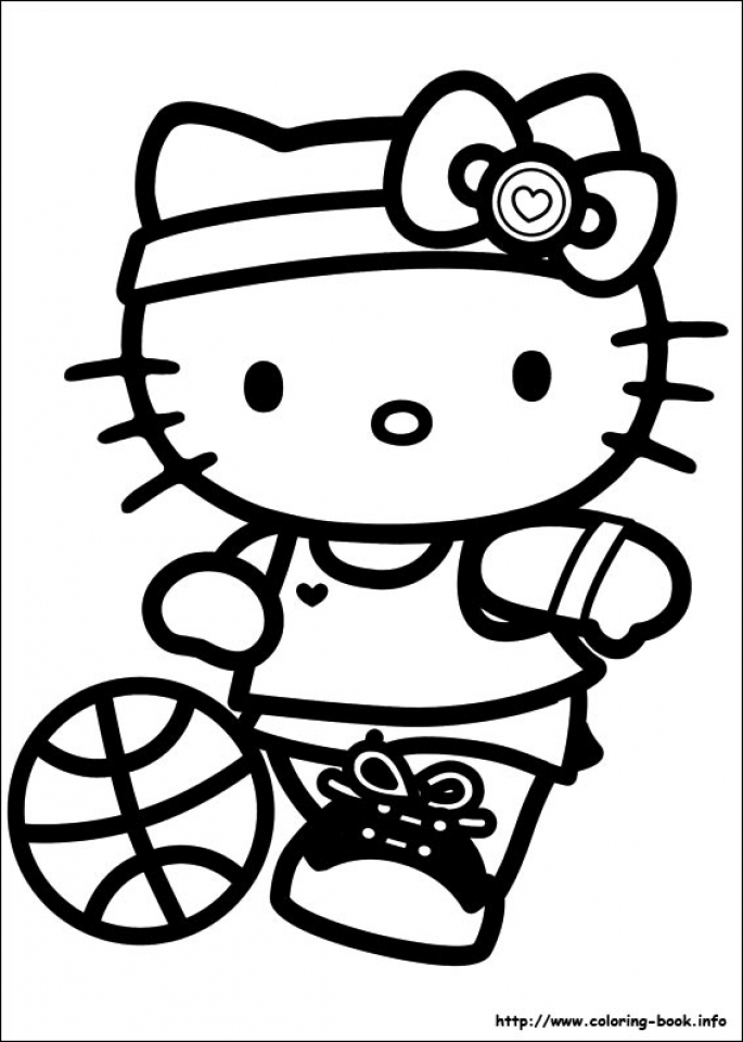 Hello Kitty Coloring Pages Free Atwm8