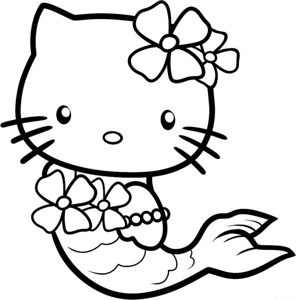 Get This hello kitty coloring pages mermaid 0vn3b !