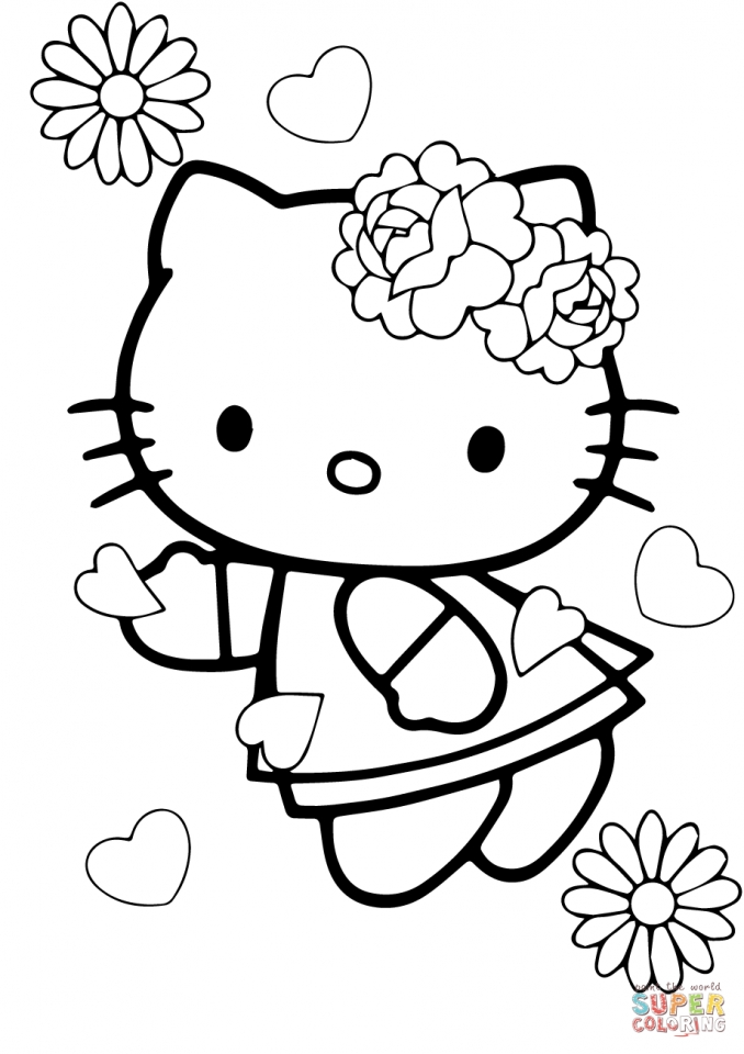 Get This hello kitty coloring pages valentines day tsn69