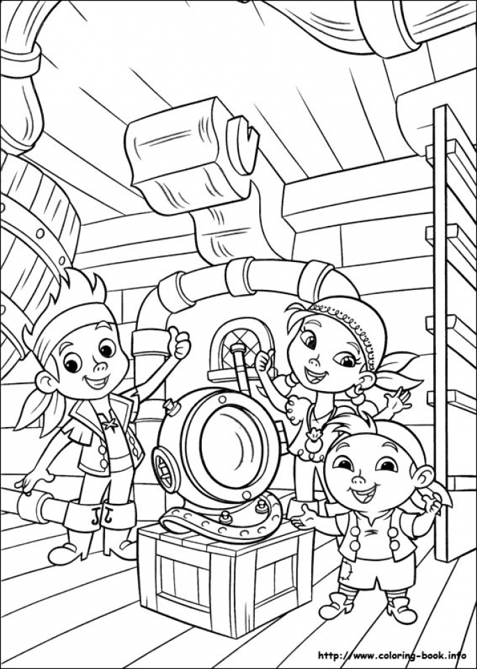 Get This Jake and The Neverland Pirates Coloring Pages Printable t418v !