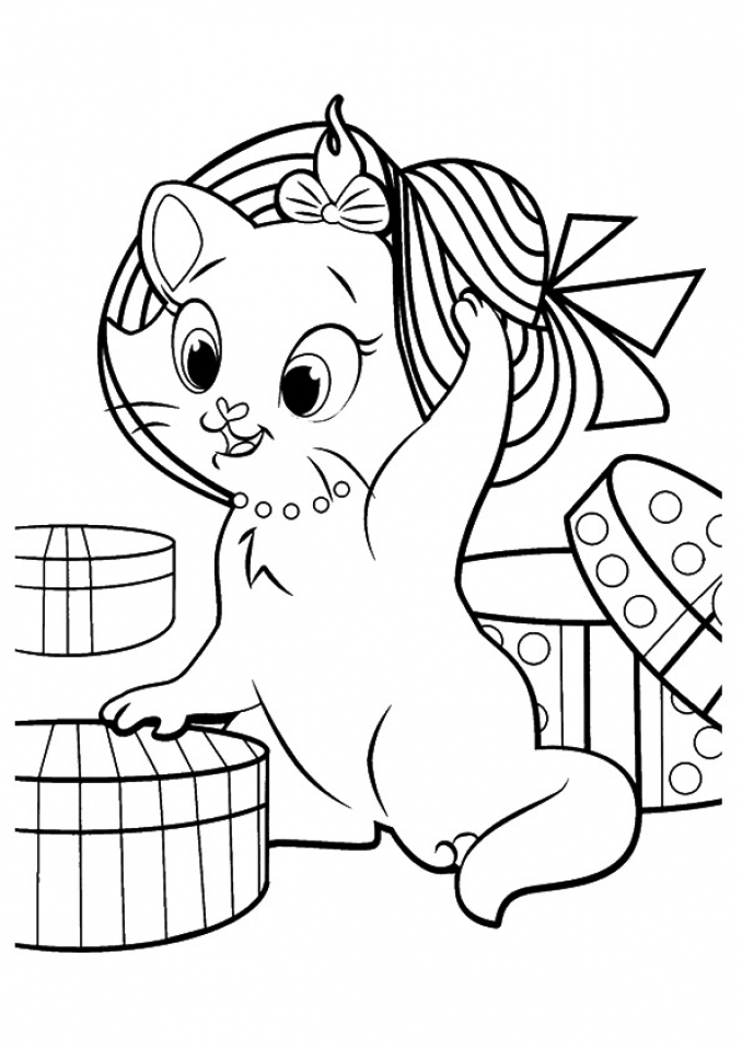 Get This Kitten Coloring Pages Printable for Kids 12618