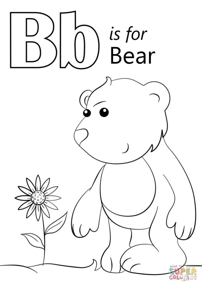 Get This Letter B Coloring Pages Bear 7vb3m !