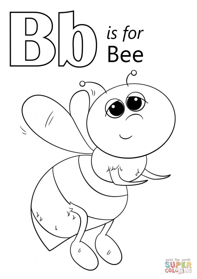 Get this letter b coloring pages bee 74219 for The letter b coloring page
