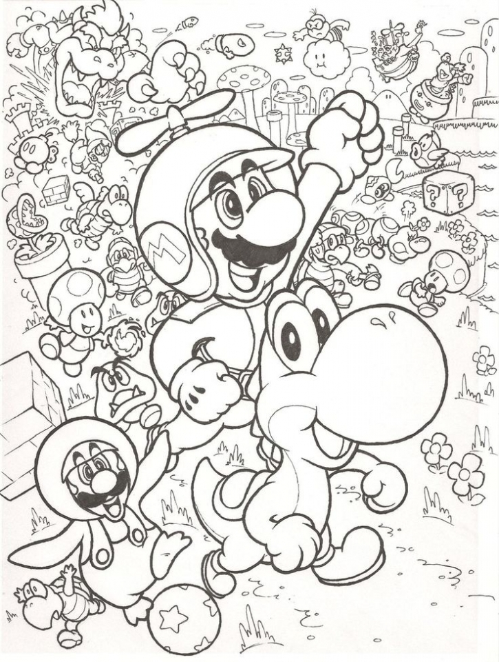 mario bros coloring pages free qab5m - Mario Bros Coloring Pages